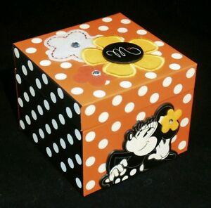 Jewelry box kids minnie mouse red black polka dot disney for Minnie mouse jewelry box