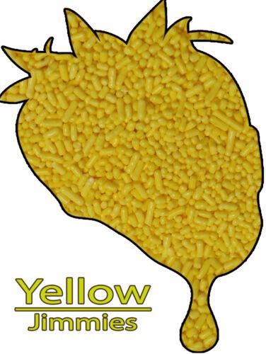 Sprinkles Jimmies Decorettes Edible Yellow Jimmies Sprinkles Decorettes 8 oz.