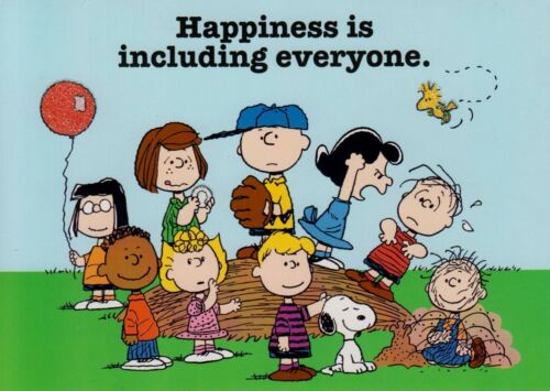 Peanuts Happiness Is Including Everyone Note Card With Envelope