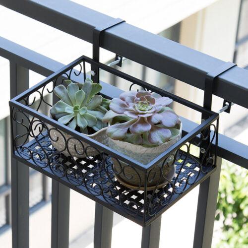 Iron Modern Plant Stand Flower Pot Holder Display Rack Decor Fence Railing X1Y0