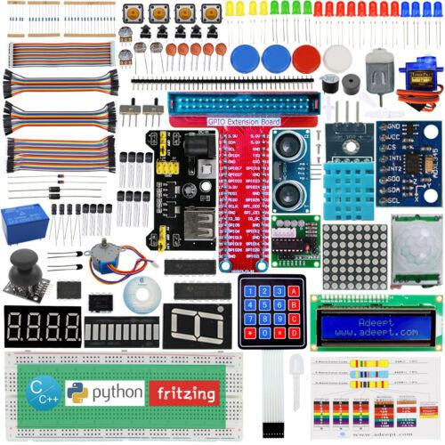 Python Adeept Ultimate Starter Learning Kit for Raspberry Pi 3 Pi 2 Model B//B