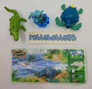 3 Bpz from EN129 in EN131 Kinder Natoons Animals Marini-Completa 3 Pieces
