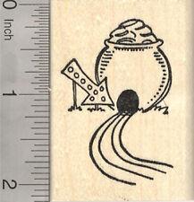 Patrick/'s Day hedgehog Rubber Stamp St Leprechaun pot of gold D16405  WM