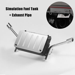 Metal-Fuel-Tank-w-Exhaust-Pipe-For-Traxxas-TRX4-TRX-4-Chevrolet-K5-Blazer-RC-Car