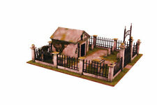 Gas Lamp Alley Graveyard & Crypt 28mm Laser cut MDF kit G087