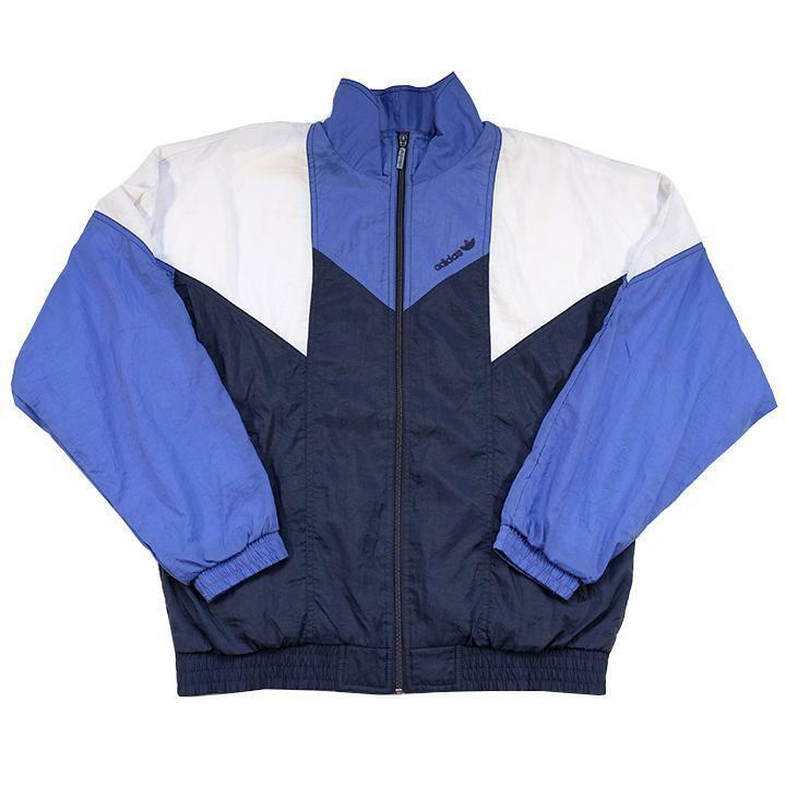 Vintage Adidas Embroidered Logo Spray Jacket - M