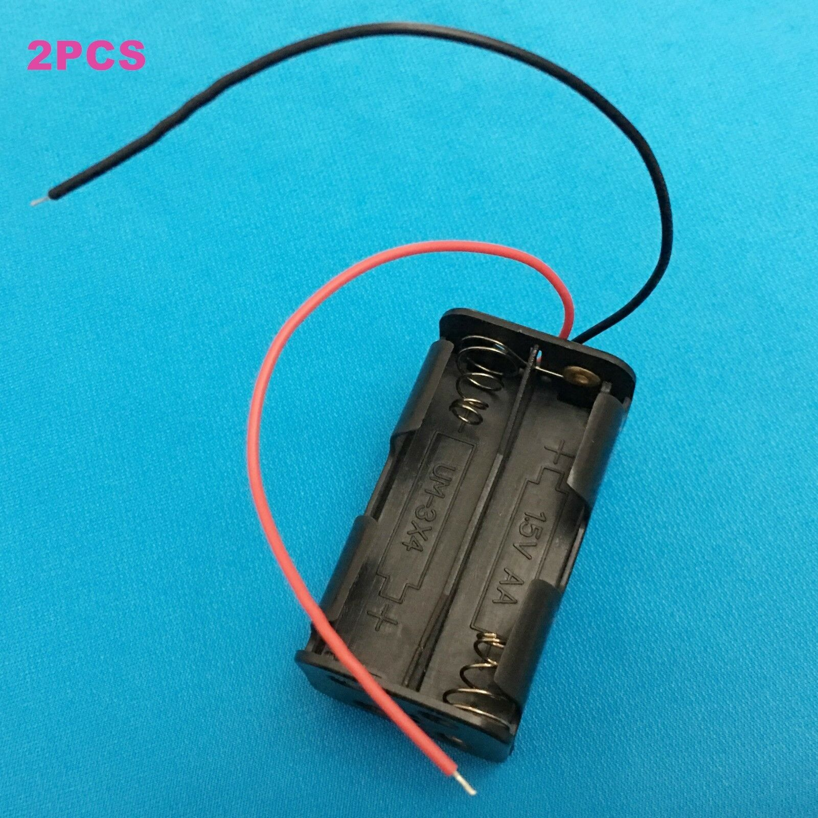2PC plastic connector holder for 2X1.5V AA R6P or 2X3.7V 14500 Li-ion battery