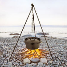 Mil-Com Steel Tripod For Dutch Oven Camping Airsoft Hunting Field Cooking
