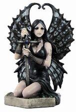 6.25 Inch Lost Love Statue By Anne Stokes Dark Gothic Angel Cross Fairy Sword