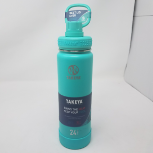Takeya Actives Insulated Stainless Water Bottle with Insulated Spout Lid, 24oz