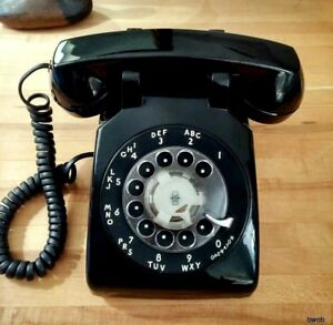 Western-Electric-Telephone-Rotary-Dial-WE-Desk-Phone-Bell-Systems-Blk-500