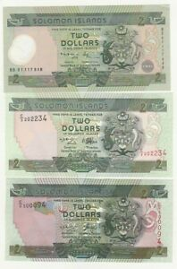 Solomon-Islands-2-dollars-x-3-1997-2001-2004-FDS-UNC-pick-18-23-24-rif-4266