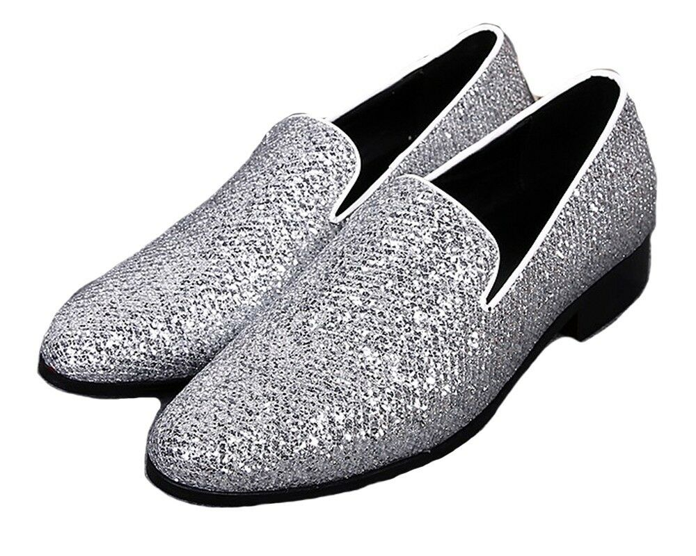 n ° 1 online Us Dimensione 5-12 Genuine Leather Uomo Slip Slip Slip On Wedding Prom Dress Loafers scarpe  risposte rapide
