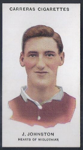 -#71- HEARTS CARRERAS-FOOTBALL SMALL TITLE JOHNSTON