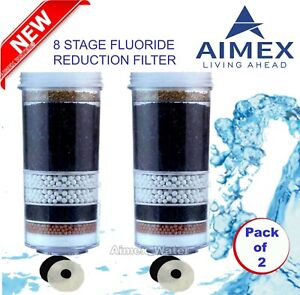 Aimex Water 8 Stage Filter Cartridge│Fluoride Reduction│Activated Mineral│2 Pack