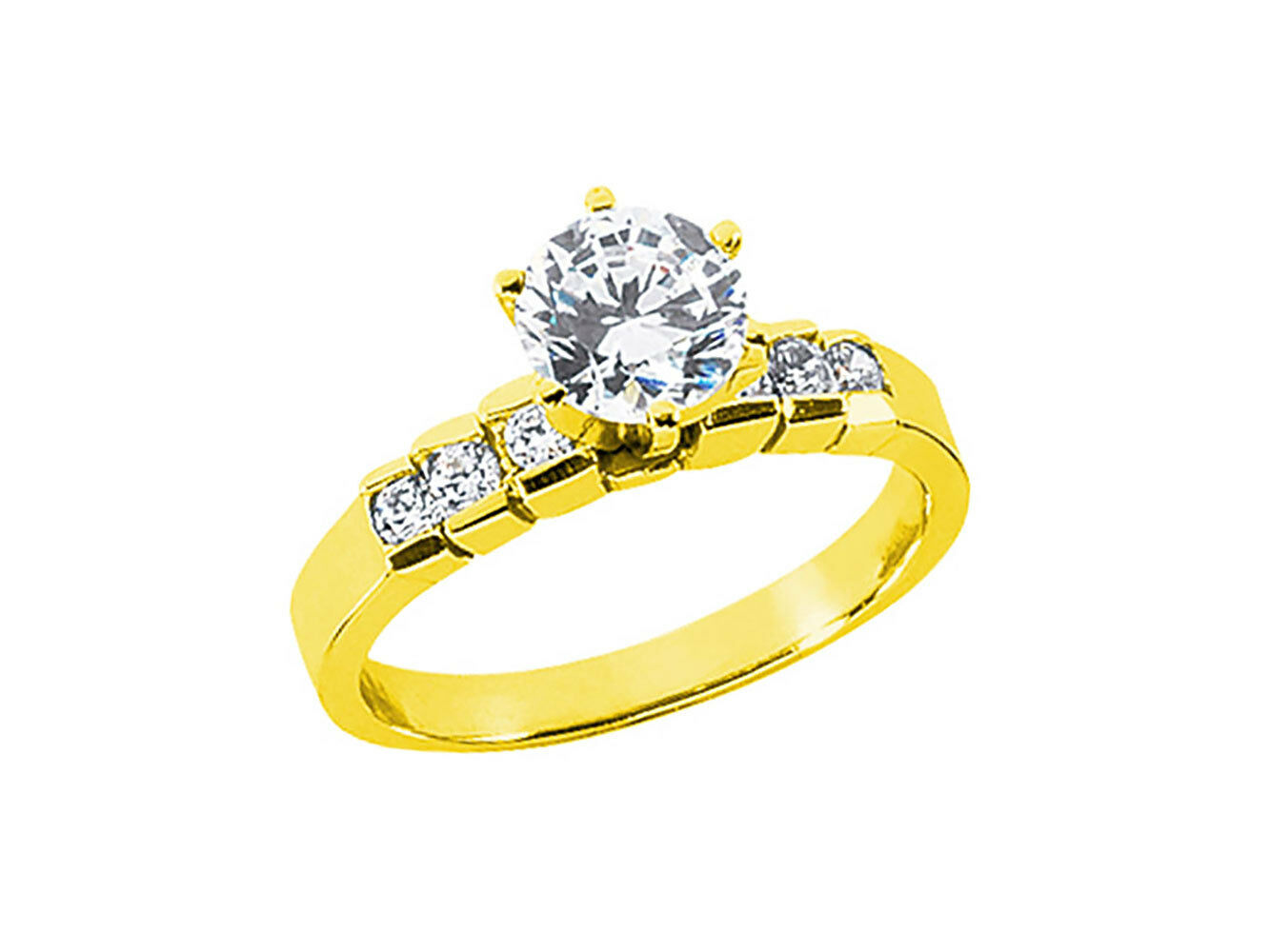 0.50Ct Round Brilliant Cut Diamond Engagement Ring Solid 18k gold G SI1
