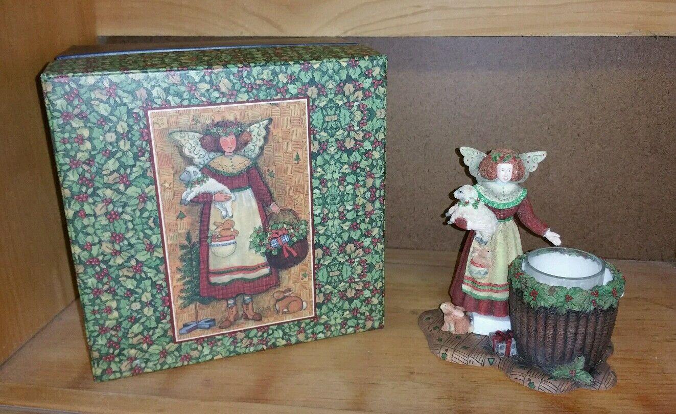 Lang Candles Susan Winget Gloria Folk Art Angel Figural Tea Votive Candle Holder