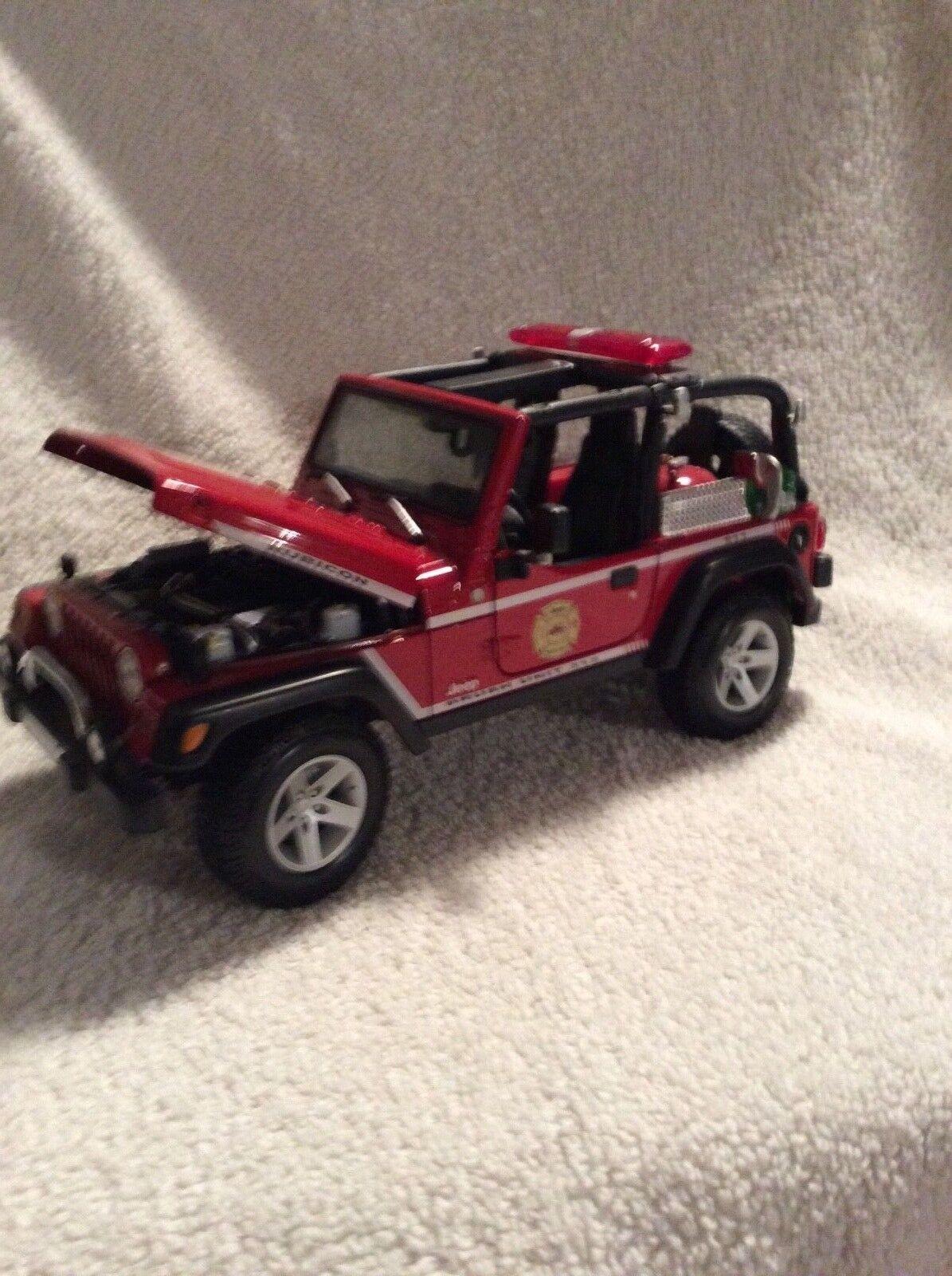 1 18 Jeep Rubicon Cepillo Fire Camión 313 Maisto Bonito Detalles Loose Pieza