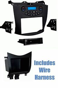 2003 honda accord stereo wiring radio install stereo dash kit w/wire harness + pocket for ...