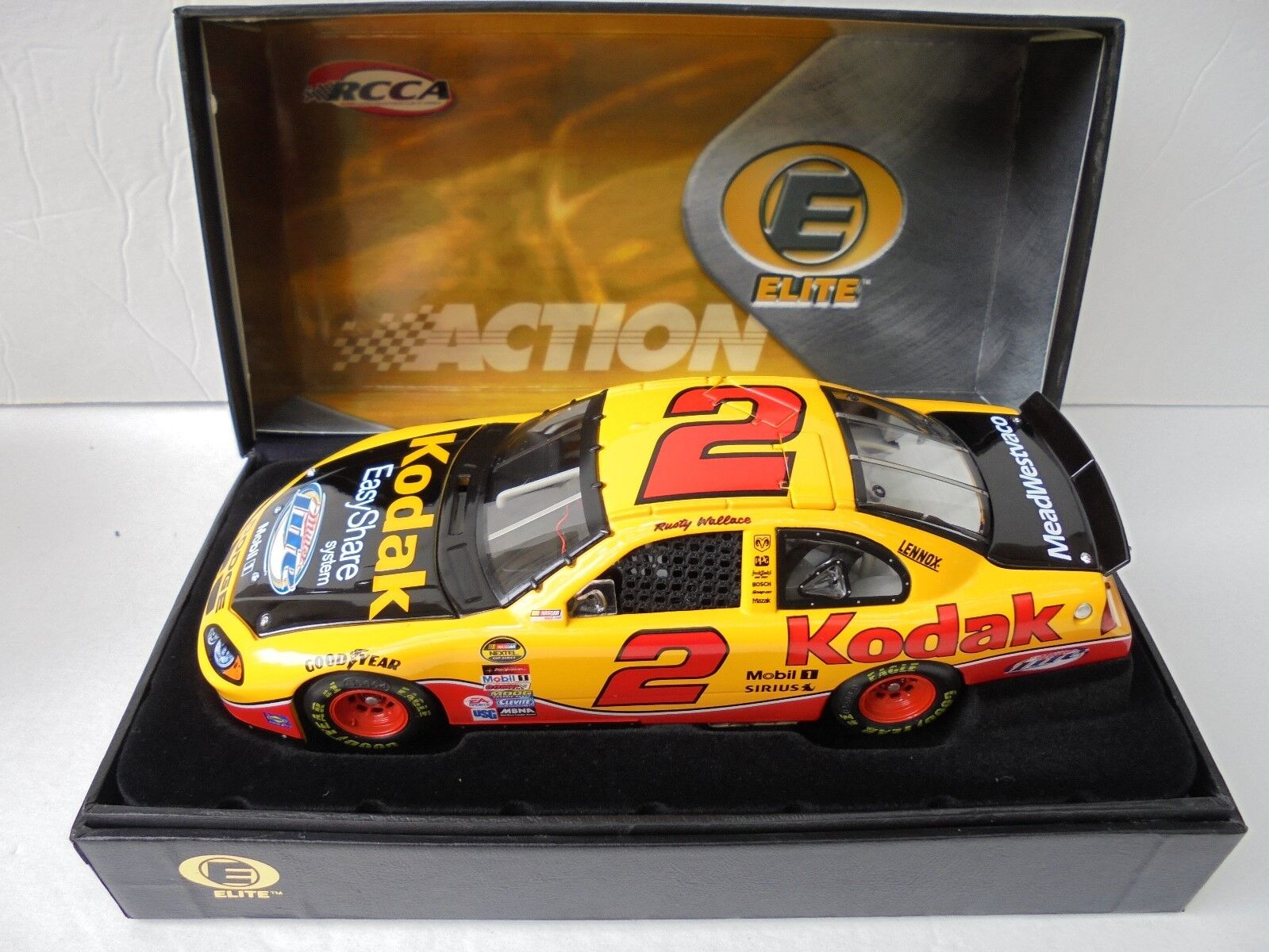 Rusty Wallace  2 Kodak 04 DODGE INTREPID Action Elite NASCAR Diecast Collectible