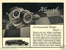 Kienzle Uhr Uhren Orig. Reklame 1942 Werbewagen Werbung LKW watch clock truck ad