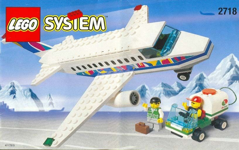 Lego Town Classic Town Airport 2718 Aircraft and Ground Crew Nuovo SEALED
