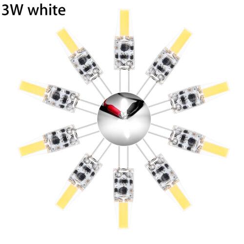 10-er LED EnergiesparLampe G4 3W 5W Watt AC//DC 12V COB Licht Birne Leuchtmittel