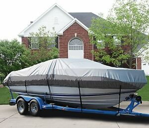 BLUE BOAT COVER FITS SEA RAY 200 BOW RIDER 2002-2003