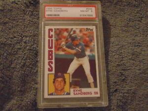 1984-Topps-Ryne-Sandberg-Card-596-PSA-8-NM-MT-Chicago-Cubs-HOF-All-Time-Great
