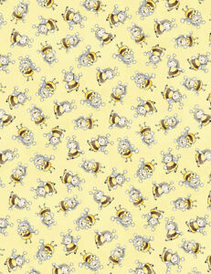 Bunny-Bees-Fabric-By-The-Yard-Bee-Fabric-Timeless-Treasures-TheFabricEdge