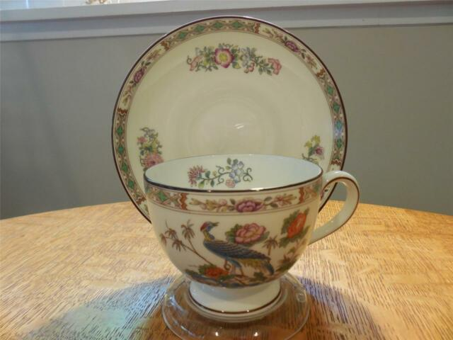 Wedgwood Kutani Crane bone china Leigh shape cup and saucer