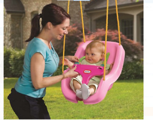 Baby Girls Swing Pink Kids Outdoor Tree Seat Chair Toddler Safety