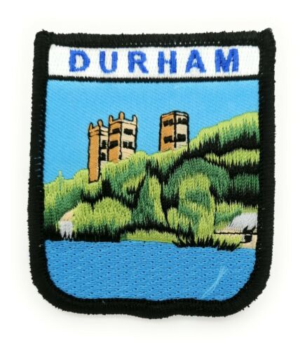 DURHAM CATHEDR ALSHIELD Embroidered Sew on Patch Approx 70mm FREE UK Delivery!