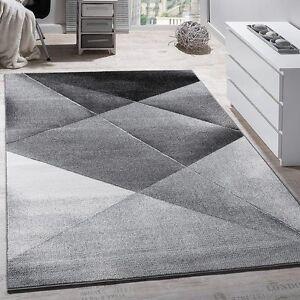 Very Modern Rug Large Grey Black Silver Living Room Area Design