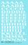 thumbnail 1 - K4 G Decals White 7/16 Inch Penn Roman Letter Number Alphabet Set