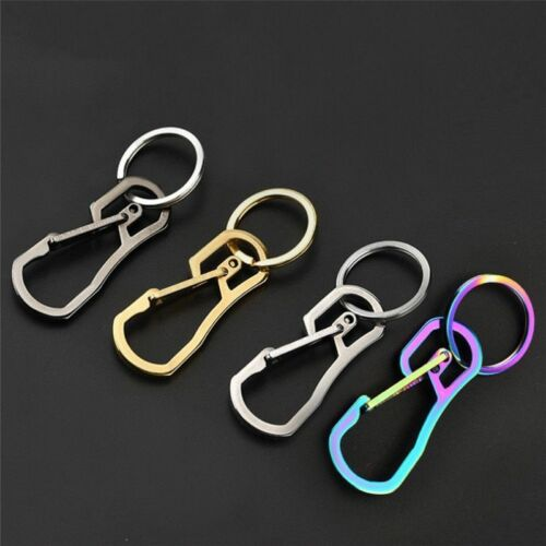 Carabiner Keychain EDC Quick Release Hooks With Titanium Key Ring Heavy Duty