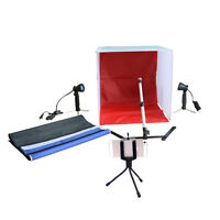Photo Studio 16 Photography Lighting Tent Kit Backdrop Cube In A Box Mini Stand