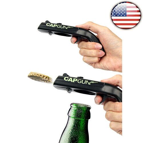 Firing Cap Gun Flying Cap Launcher  Bottle Opener Beer Drink Wine Corkscrews