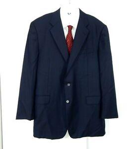 blue HICKEY FREEMAN LORO PIANA SUPER 120S jacket blazer sport coat 100% wool 44R