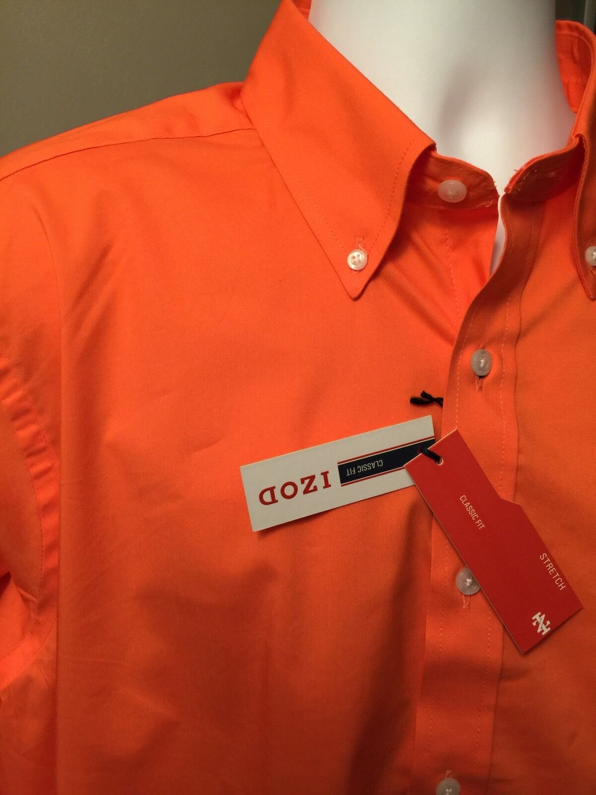 Izod Mens Dress Shirt Size 17-171 2-34 35 Classic Fit Stretch Carred NWT