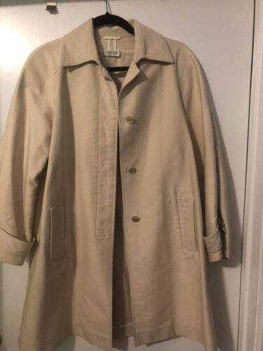 Agnona Beige Trench Coat - Used, Size 38, Womens