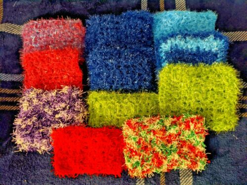 Double-sided,non-abrasive Dish Scrubbies Handmade 3 for $7.00