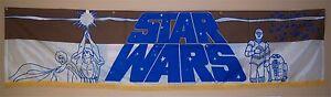 STAR-WARS-CineMasterpieces-ORIGINAL-LOBBY-BANNER-MOVIE-POSTER-1977-NM-M