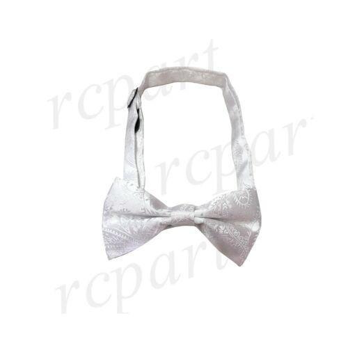 New Boy/'s kid/'s pre tied bowtie paisley formal wedding black red purple silver