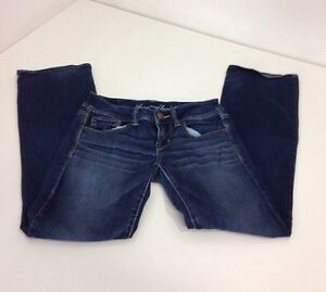 AMERICAN-EAGLE-WOMEN-039-S-SLIM-BOOT-CUT-JEANS-SIZE-2-SHORT