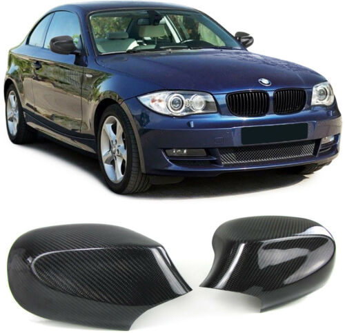 Carbone Véritable Miroir Capuchons Miroir Cover pour BMW 1er e81 e82 e87 e88 09-13