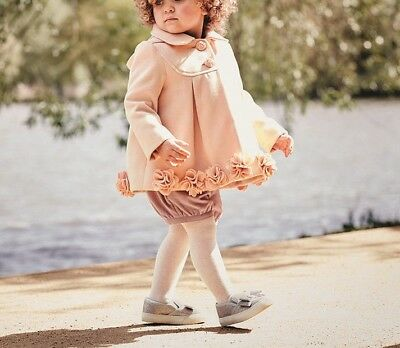 Details about Monsoon Ellie Roses Pink Baby Girls Coat Dress Jacket 3 Months to 24 Months New