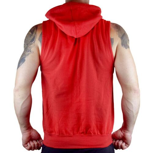 Men/'s Lion Headdress Red Sleeveless Workout Hoodie Wild Tribal Native Indian