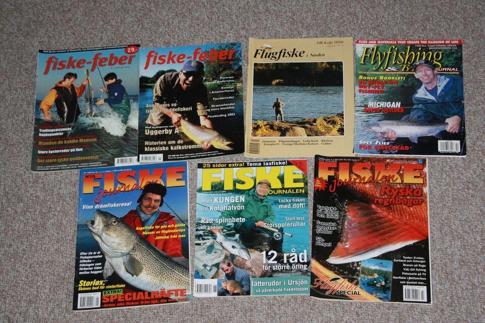Fiskebøger, Fiske-fiber - 2 stk Flyfishing Flugfiske i