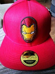 07dd215e4047b MARVEL COMICS Captain America  Civil War Iron Man Mask Snapback ...